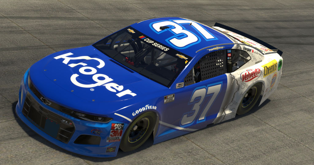 DOVER, DELAWARE - MAY 03: (EDITORIAL USE ONLY) (Editors note: This image was computer generated in-game) Ryan Preece, driver of the #37 Kroger Chevrolet, races during the eNASCAR iRacing Pro Invitational Series Finish Line 150 at virtual Dover International Speedway on May 03, 2020 in Dover, Delaware. (Photo by Chris Graythen/Getty Images) | Getty Images