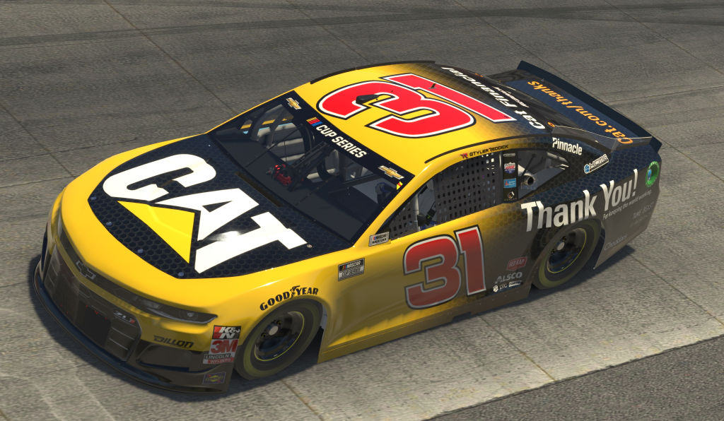 DOVER, DELAWARE - MAY 03: (EDITORIAL USE ONLY) (Editors note: This image was computer generated in-game) Tyler Reddick, driver of the #31 Caterpillar Chevrolet, during the eNASCAR iRacing Pro Invitational Series Finish Line 150 at virtual Dover International Speedway on May 03, 2020 in Dover, Delaware. (Photo by Chris Graythen/Getty Images) | Getty Images