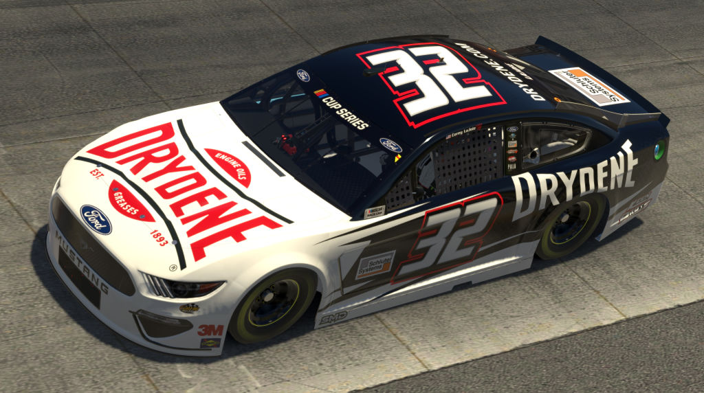 DOVER, DELAWARE - MAY 03: (EDITORIAL USE ONLY) (Editors note: This image was computer generated in-game) Corey LaJoie, driver of the #32 Drydene Fordduring the eNASCAR iRacing Pro Invitational Series Finish Line 150 at virtual Dover International Speedway on May 03, 2020 in Dover, Delaware. (Photo by Chris Graythen/Getty Images) | Getty Images