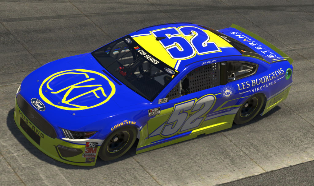 DOVER, DELAWARE - MAY 03: (EDITORIAL USE ONLY) (Editors note: This image was computer generated in-game) JJ Yeley, driver of the #52 Les Bourgeois Vineyards Ford, during the eNASCAR iRacing Pro Invitational Series Finish Line 150 at virtual Dover International Speedway on May 03, 2020 in Dover, Delaware. (Photo by Chris Graythen/Getty Images) | Getty Images