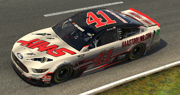 NORTH WILKESBORO, NORTH CAROLINA - MAY 09: (EDITORIAL USE ONLY) (Editors note: This image was computer generated in-game)  Cole Custer, driver of the #41 Haas Tooling Ford, races during the eNASCAR iRacing Pro Invitational Series North Wilkesboro 160 at virtual North Wilkesboro Speedway on May 09, 2020 in North Wilkesboro, North Carolina. (Photo by Chris Graythen/Getty Images) | Getty Images