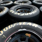 INDIANAPOLIS, IN - JULY 22:  A view of the Goodyear tires during practice for the NASCAR XFINITY Series Lilly Diabetes 250 at Indianapolis Motor Speedway on July 23, 2016 in Indianapolis, Indiana.  (Photo by Bobby Ellis/Getty Images) | Getty Images