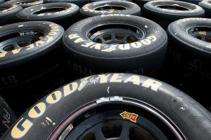INDIANAPOLIS, IN – JULY 22:  A view of the Goodyear tires during practice for the NASCAR XFINITY Series Lilly Diabetes 250 at Indianapolis Motor Speedway on July 23, 2016 in Indianapolis, Indiana.  (Photo by Bobby Ellis/Getty Images) | Getty Images