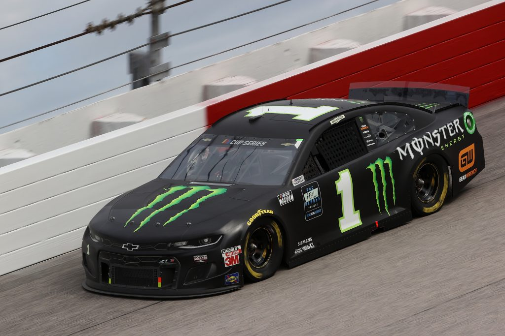 DARLINGTON, SOUTH CAROLINA - MAY 17: Kurt Busch, driver of the #1 Monster Energy Chevrolet, drives during the NASCAR Cup Series The Real Heroes 400 at Darlington Raceway on May 17, 2020 in Darlington, South Carolina. NASCAR resumes the season after the nationwide lockdown due to the ongoing coronavirus (COVID-19). (Photo by Chris Graythen/Getty Images) | Getty Images
