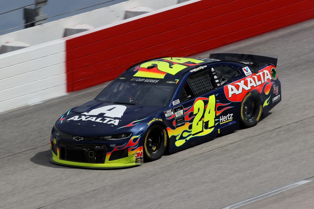 DARLINGTON, SOUTH CAROLINA - MAY 17: William Byron, driver of the #24 Axalta Chevrolet, drives during the NASCAR Cup Series The Real Heroes 400 at Darlington Raceway on May 17, 2020 in Darlington, South Carolina. NASCAR resumes the season after the nationwide lockdown due to the ongoing coronavirus (COVID-19). (Photo by Chris Graythen/Getty Images) | Getty Images