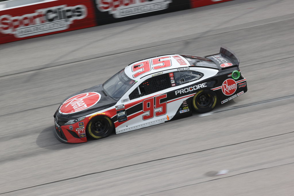 DARLINGTON, SOUTH CAROLINA - MAY 17: Christopher Bell, driver of the #95 Rheem Toyota, drives during the NASCAR Cup Series The Real Heroes 400 at Darlington Raceway on May 17, 2020 in Darlington, South Carolina. NASCAR resumes the season after the nationwide lockdown due to the ongoing coronavirus (COVID-19). (Photo by Chris Graythen/Getty Images) | Getty Images