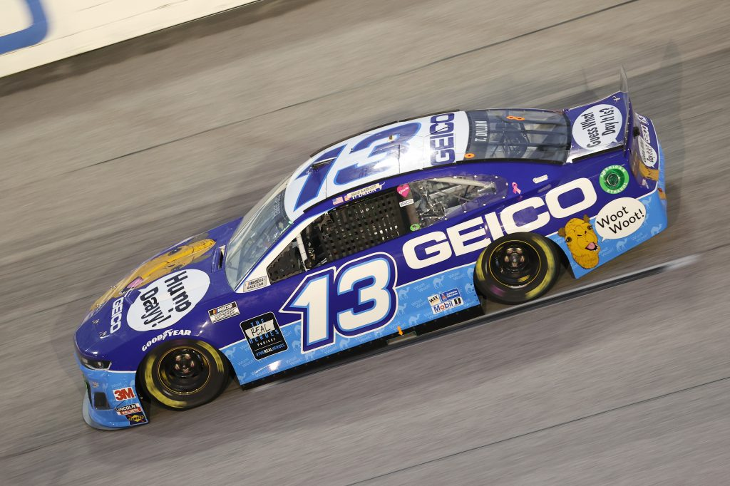 DARLINGTON, SOUTH CAROLINA - MAY 20: Ty Dillon, driver of the #13 GEICO Chevrolet, drives during the NASCAR Cup Series Toyota 500 at Darlington Raceway on May 20, 2020 in Darlington, South Carolina. (Photo by Chris Graythen/Getty Images) | Getty Images