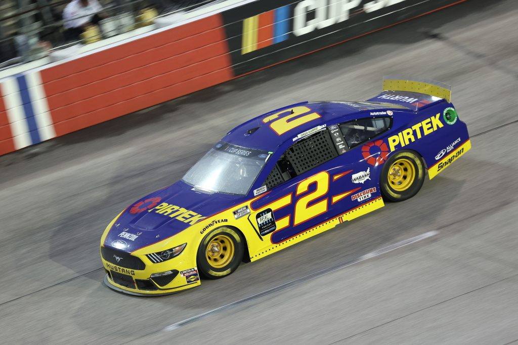 DARLINGTON, SOUTH CAROLINA - MAY 20: Brad Keselowski, driver of the #2 PIRTEK Ford, drives during the NASCAR Cup Series Toyota 500 at Darlington Raceway on May 20, 2020 in Darlington, South Carolina. (Photo by Chris Graythen/Getty Images) | Getty Images