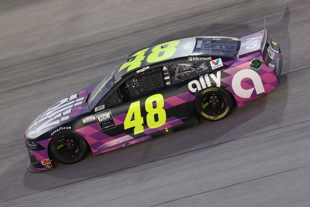 DARLINGTON, SOUTH CAROLINA - MAY 20: Jimmie Johnson, driver of the #48 Ally Chevrolet, drives during the NASCAR Cup Series Toyota 500 at Darlington Raceway on May 20, 2020 in Darlington, South Carolina. (Photo by Chris Graythen/Getty Images) | Getty Images