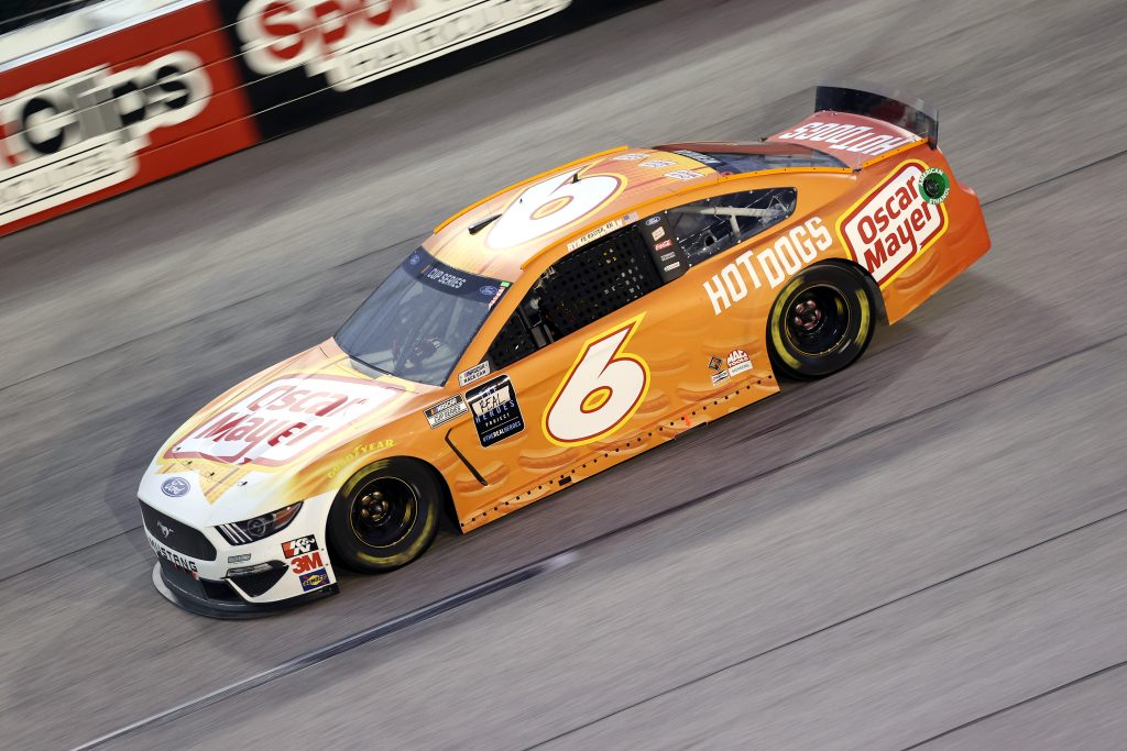 DARLINGTON, SOUTH CAROLINA - MAY 20: Ryan Newman, driver of the #6 Oscar Mayer Hot Dogs Ford, drives during the NASCAR Cup Series Toyota 500 at Darlington Raceway on May 20, 2020 in Darlington, South Carolina. (Photo by Chris Graythen/Getty Images) | Getty Images