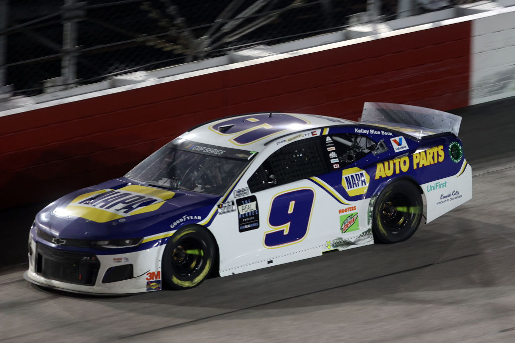 DARLINGTON, SOUTH CAROLINA - MAY 20: Chase Elliott, driver of the #9 NAPA Auto Parts Chevrolet, races during the NASCAR Cup Series Toyota 500 at Darlington Raceway on May 20, 2020 in Darlington, South Carolina. (Photo by Chris Graythen/Getty Images) | Getty Images