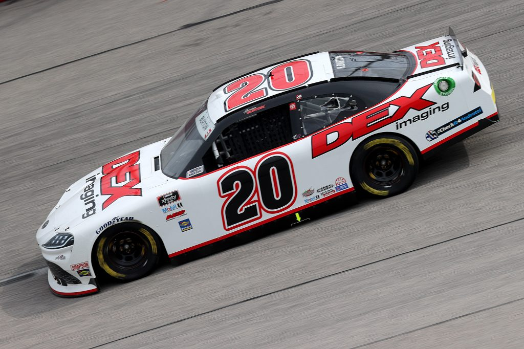 DARLINGTON, SOUTH CAROLINA - MAY 21: Harrison Burton, driver of the #20 Dex Imaging Toyota, drives during the NASCAR Xfinity Series Toyota 200 at Darlington Raceway on May 21, 2020 in Darlington, South Carolina. (Photo by Chris Graythen/Getty Images) | Getty Images