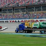 TALLADEGA, AL - OCTOBER 19:  The Air Titan is used to dry the track after rain cancelled qualifying for the NASCAR Sprint Cup Series 45th Annual Camping World RV Sales 500 at Talladega Superspeedway on October 19, 2013 in Talladega, Alabama.  (Photo by John Harrelson/Getty Images)   Getty Images