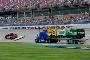 TALLADEGA, AL – OCTOBER 19: The Air Titan is used to dry the track after rain cancelled qualifying for the NASCAR Sprint Cup Series 45th Annual Camping World RV Sales 500 at Talladega Superspeedway on October 19, 2013 in Talladega, Alabama. (Photo by John Harrelson/Getty Images)   Getty Images