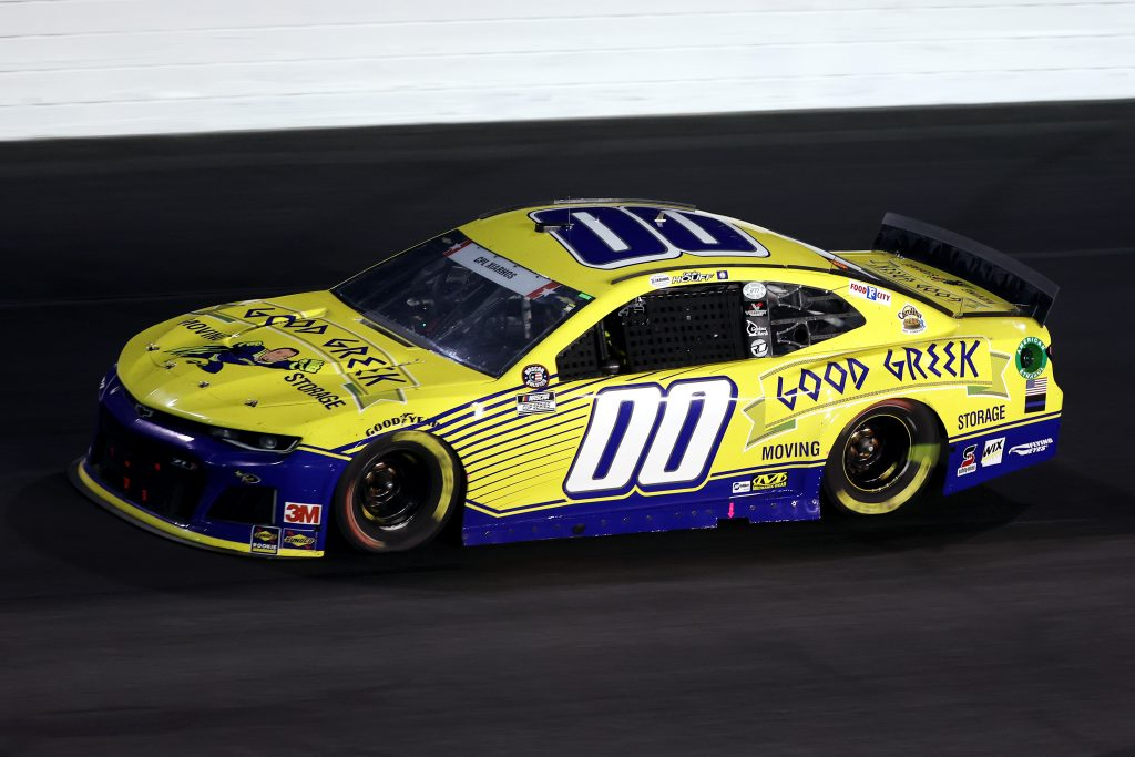CONCORD, NORTH CAROLINA - MAY 24: Quin Houff, driver of the #00 Good Greek Movers Chevrolet, drives during the NASCAR Cup Series Coca-Cola 600 at Charlotte Motor Speedway on May 24, 2020 in Concord, North Carolina. (Photo by Chris Graythen/Getty Images) | Getty Images