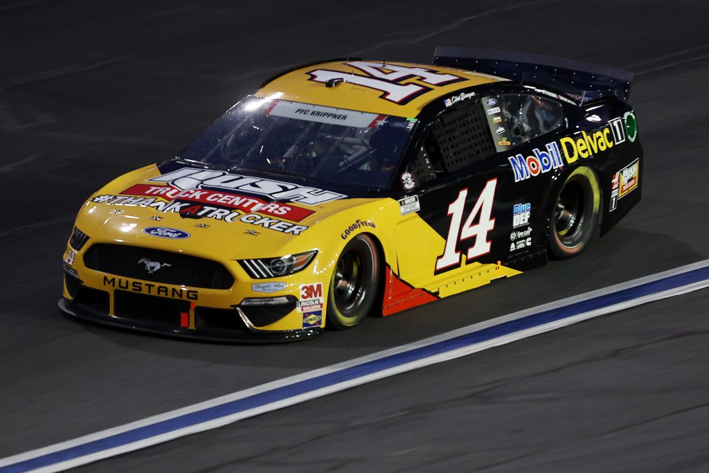 CONCORD, NORTH CAROLINA - MAY 24: Clint Bowyer, driver of the #14 Rush/Mobil Delvac 1 Ford, drives during the NASCAR Cup Series Coca-Cola 600 at Charlotte Motor Speedway on May 24, 2020 in Concord, North Carolina. (Photo by Chris Graythen/Getty Images) | Getty Images
