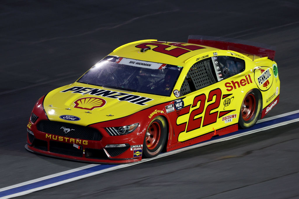 CONCORD, NORTH CAROLINA - MAY 24: Joey Logano, driver of the #22 Shell Pennzoil Ford, during the NASCAR Cup Series Coca-Cola 600 at Charlotte Motor Speedway on May 24, 2020 in Concord, North Carolina. (Photo by Chris Graythen/Getty Images) | Getty Images