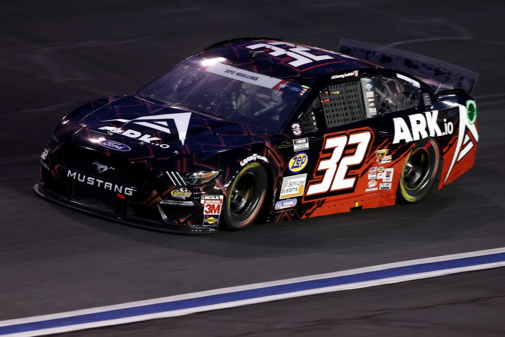 CONCORD, NORTH CAROLINA - MAY 24: Corey LaJoie, driver of the #32 ARK.io Ford, drives drives during the NASCAR Cup Series Coca-Cola 600 at Charlotte Motor Speedway on May 24, 2020 in Concord, North Carolina. (Photo by Chris Graythen/Getty Images) | Getty Images