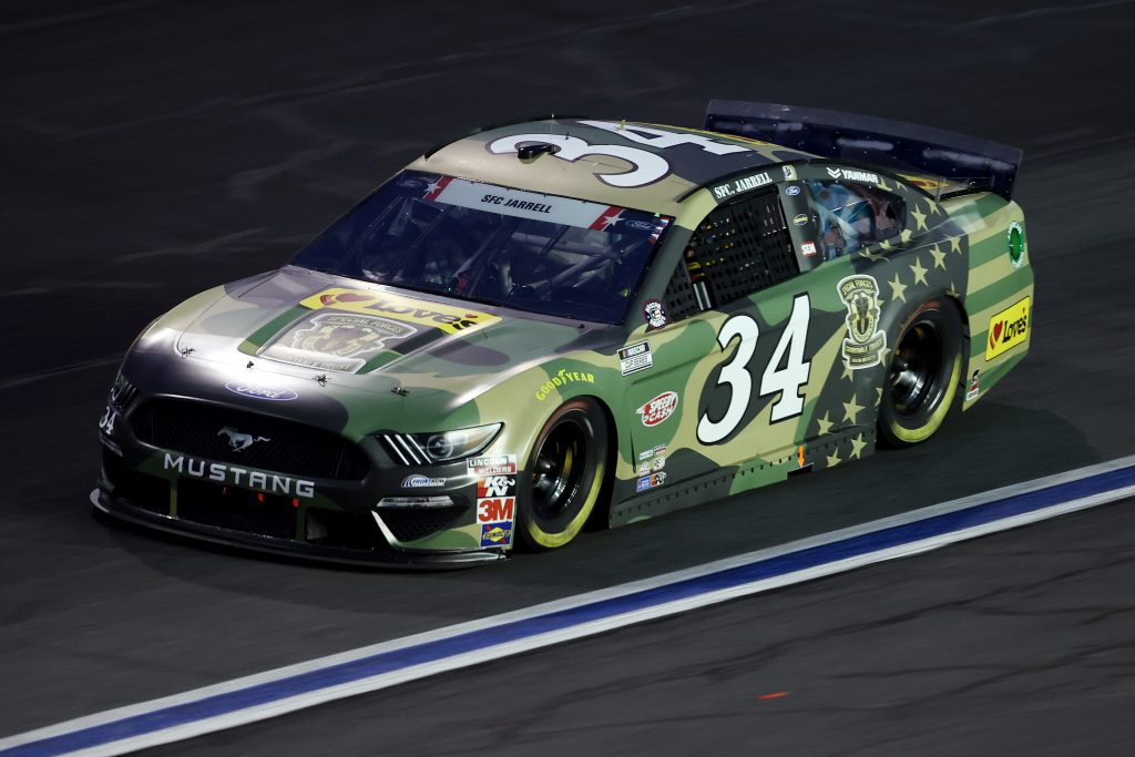 CONCORD, NORTH CAROLINA - MAY 24: Michael McDowell, driver of the #34 Love's Travel Stops Ford, drives during the NASCAR Cup Series Coca-Cola 600 at Charlotte Motor Speedway on May 24, 2020 in Concord, North Carolina. (Photo by Chris Graythen/Getty Images) | Getty Images