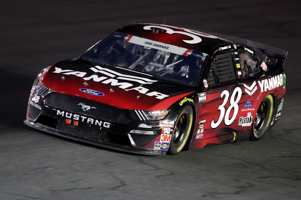 CONCORD, NORTH CAROLINA - MAY 24: John H. Nemechek, driver of the #38 YANMAR Ford, drives during the NASCAR Cup Series Coca-Cola 600 at Charlotte Motor Speedway on May 24, 2020 in Concord, North Carolina. (Photo by Chris Graythen/Getty Images) | Getty Images