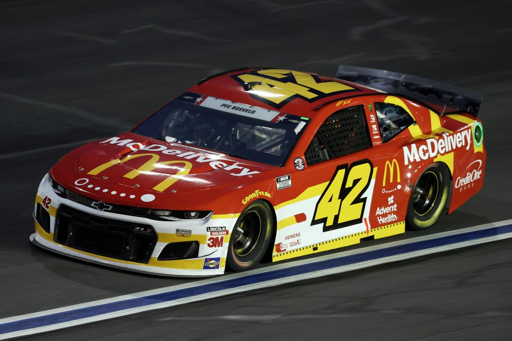 CONCORD, NORTH CAROLINA - MAY 24: Matt Kenseth, driver of the #42 McDelivery Chevrolet, drives during the NASCAR Cup Series Coca-Cola 600 at Charlotte Motor Speedway on May 24, 2020 in Concord, North Carolina. (Photo by Chris Graythen/Getty Images) | Getty Images