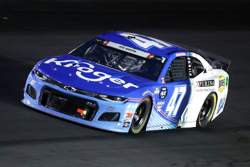 CONCORD, NORTH CAROLINA - MAY 24: Ricky Stenhouse Jr., driver of the #47 Kroger Chevrolet, drives during the NASCAR Cup Series Coca-Cola 600 at Charlotte Motor Speedway on May 24, 2020 in Concord, North Carolina. (Photo by Chris Graythen/Getty Images) | Getty Images