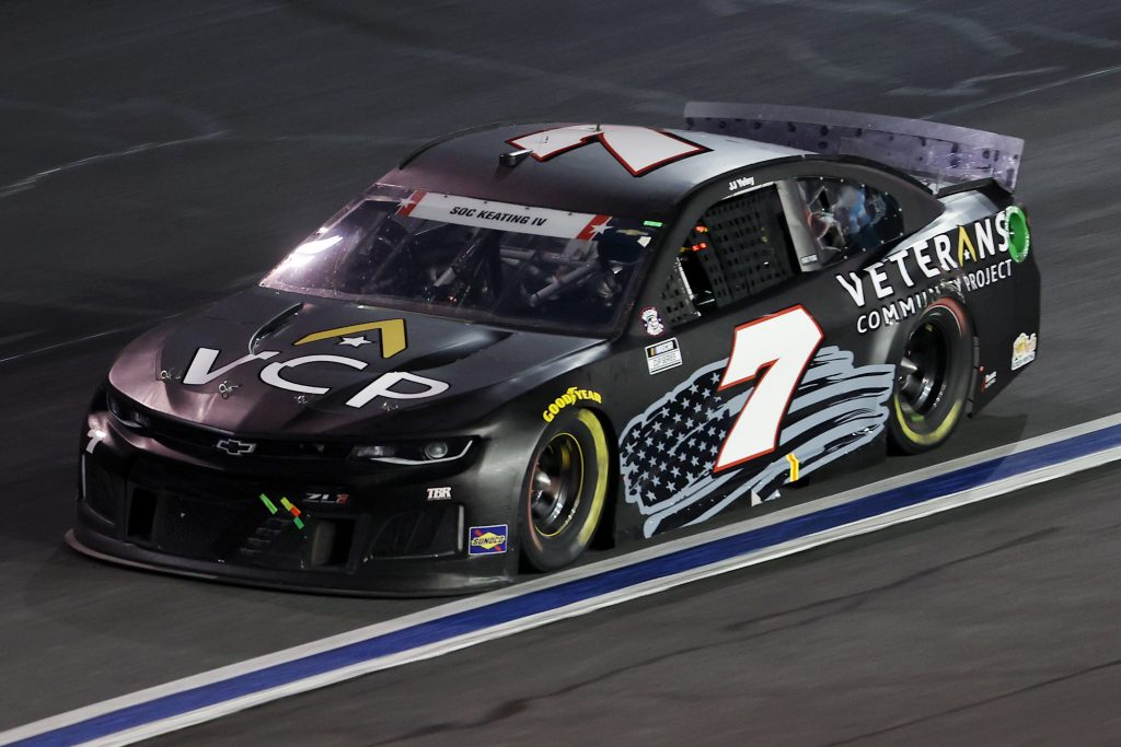 CONCORD, NORTH CAROLINA - MAY 24: JJ Yeley, driver of the #7 Chevrolet, drives during the NASCAR Cup Series Coca-Cola 600 at Charlotte Motor Speedway on May 24, 2020 in Concord, North Carolina. (Photo by Chris Graythen/Getty Images) | Getty Images