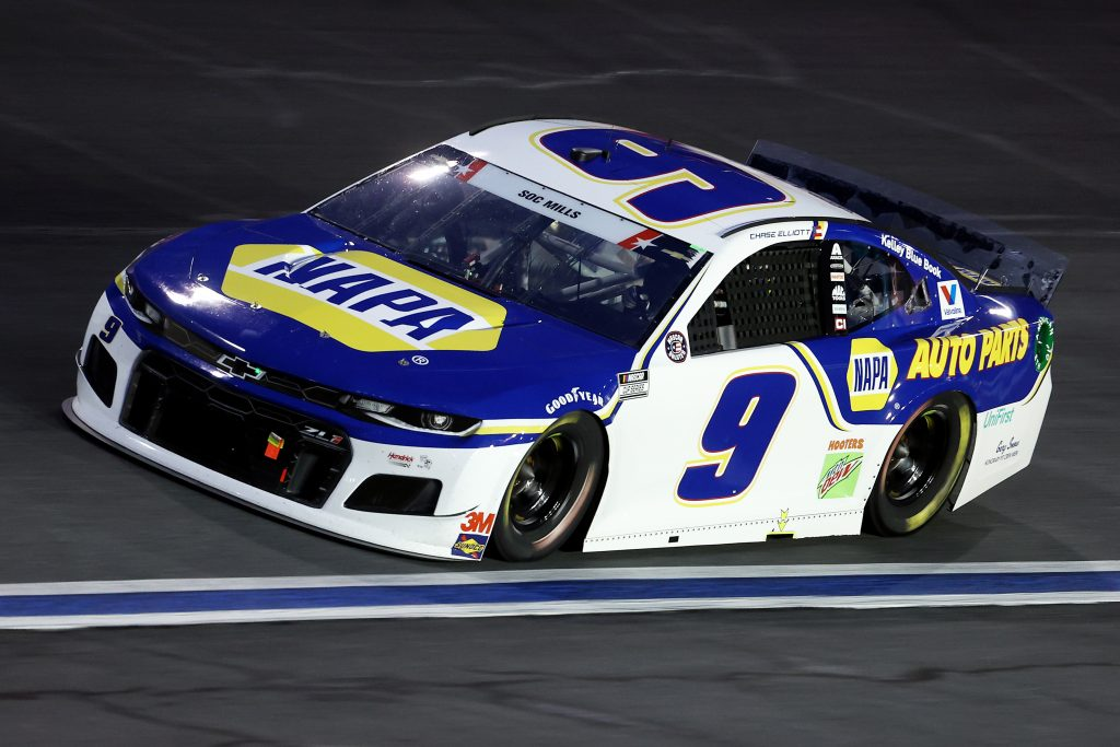 CONCORD, NORTH CAROLINA - MAY 24: Chase Elliott, driver of the #9 NAPA Auto Parts Chevrolet, drives during the NASCAR Cup Series Coca-Cola 600 at Charlotte Motor Speedway on May 24, 2020 in Concord, North Carolina. (Photo by Chris Graythen/Getty Images) | Getty Images