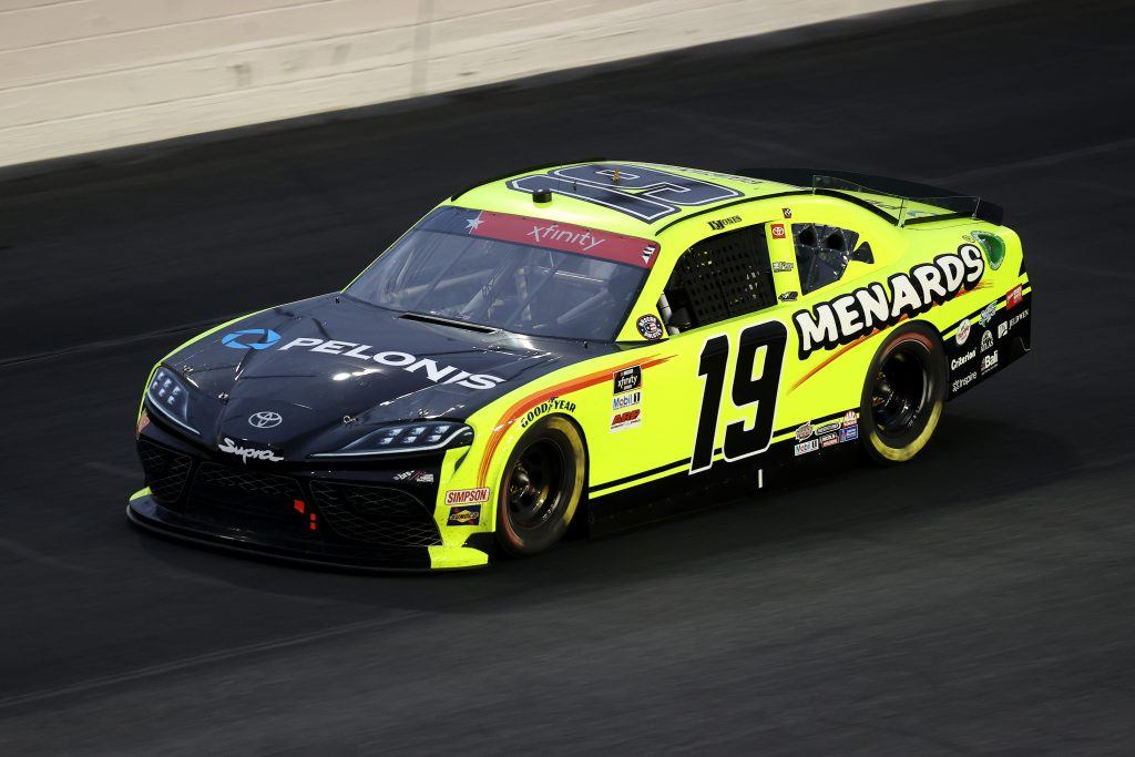 CONCORD, NORTH CAROLINA - MAY 25: Brandon Jones, driver of the #19 Menards/Pelonis Toyota, drives during the NASCAR Xfinity Series Alsco 300 at Charlotte Motor Speedway on May 25, 2020 in Concord, North Carolina. (Photo by Chris Graythen/Getty Images) | Getty Images
