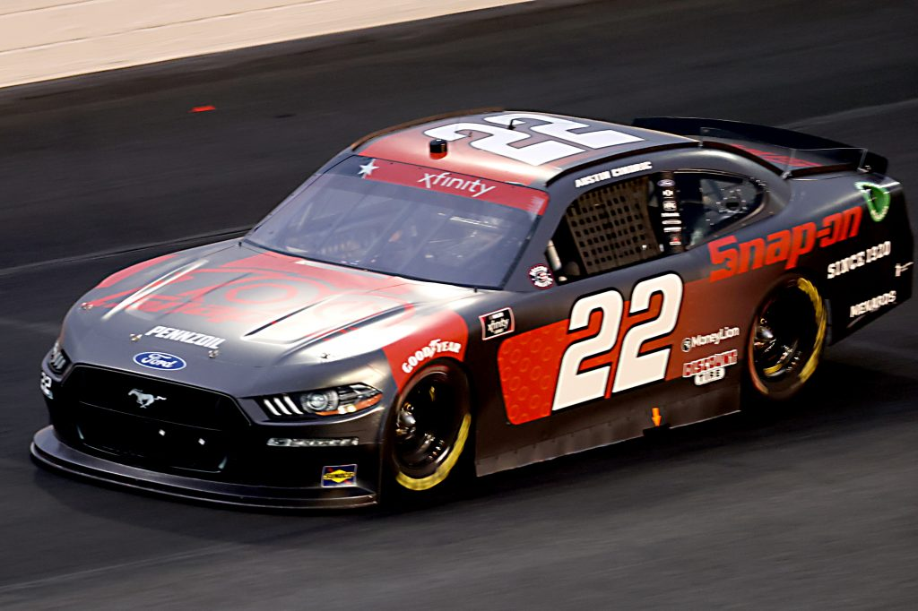 CONCORD, NORTH CAROLINA - MAY 25: Austin Cindric, driver of the #22 Snap-on Tools Ford, drives during the NASCAR Xfinity Series Alsco 300 at Charlotte Motor Speedway on May 25, 2020 in Concord, North Carolina. (Photo by Chris Graythen/Getty Images) | Getty Images