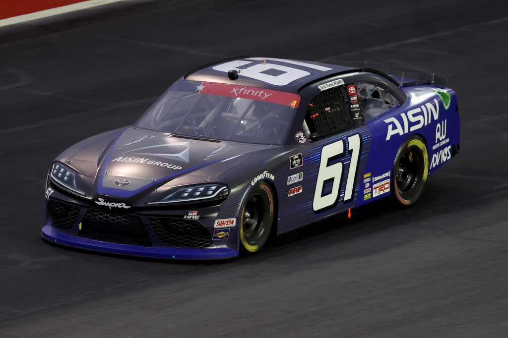 CONCORD, NORTH CAROLINA - MAY 25: Austin Hill, driver of the #61 AISIN Group Toyota, drives during the NASCAR Xfinity Series Alsco 300 at Charlotte Motor Speedway on May 25, 2020 in Concord, North Carolina. (Photo by Chris Graythen/Getty Images) | Getty Images