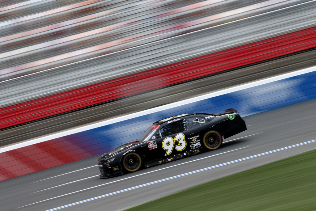 CONCORD, NORTH CAROLINA - MAY 25: Jeff Green, driver of the #93 RSS Racing Chevrolet, drives during the NASCAR Xfinity Series Alsco 300 at Charlotte Motor Speedway on May 25, 2020 in Concord, North Carolina. (Photo by Chris Graythen/Getty Images) | Getty Images