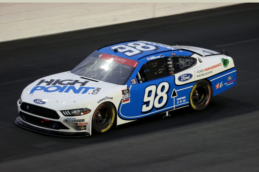 CONCORD, NORTH CAROLINA - MAY 25: Chase Briscoe, driver of the #98 HighPoint.com Ford, drives during the NASCAR Xfinity Series Alsco 300 at Charlotte Motor Speedway on May 25, 2020 in Concord, North Carolina. (Photo by Chris Graythen/Getty Images) | Getty Images