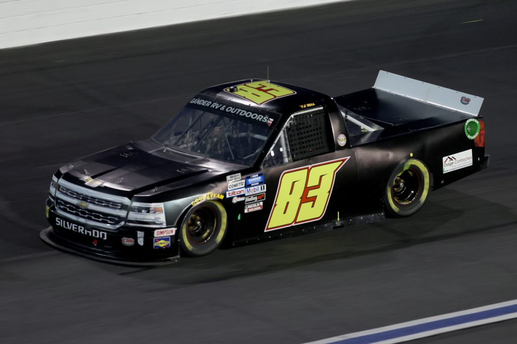 CONCORD, NORTH CAROLINA - MAY 26: TJ Bell, driver of the #83 CMI Motorsports Chevrolet, drives during the NASCAR Gander Outdoors Trucks Series North Carolina Education Lottery 200 at Charlotte Motor Speedway on May 26, 2020 in Concord, North Carolina. (Photo by Chris Graythen/Getty Images) | Getty Images