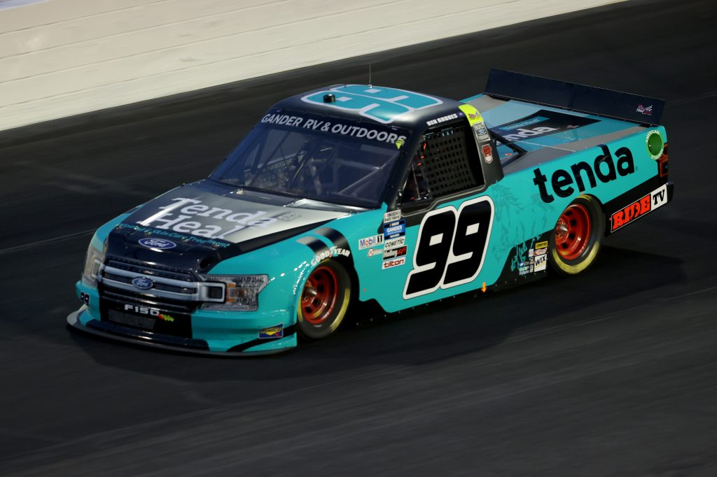 CONCORD, NORTH CAROLINA - MAY 26: Ben Rhodes, driver of the #99 Tenda Heal Ford, drives during the NASCAR Gander Outdoors Trucks Series North Carolina Education Lottery 200 at Charlotte Motor Speedway on May 26, 2020 in Concord, North Carolina. (Photo by Chris Graythen/Getty Images) | Getty Images