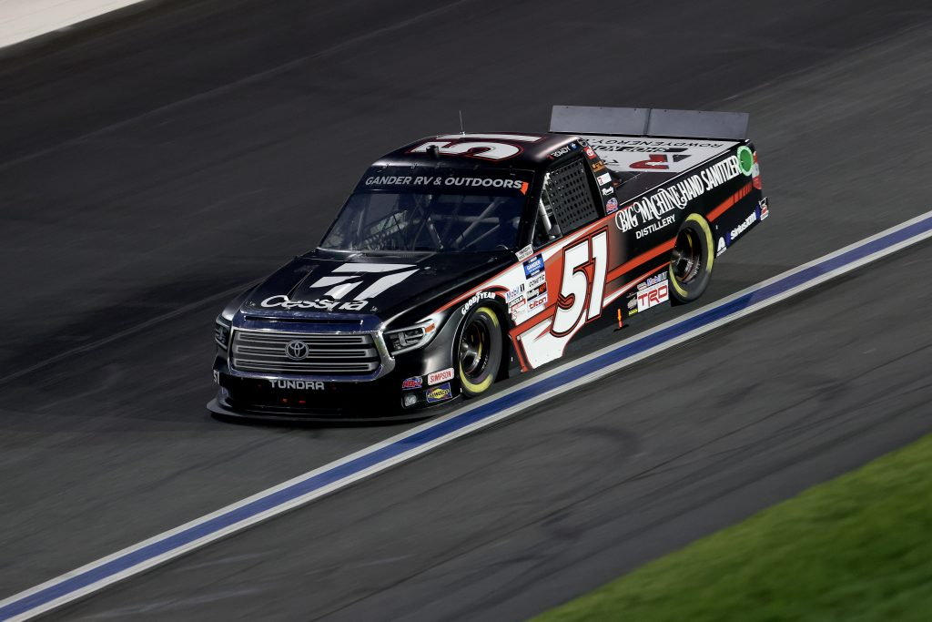 CONCORD, NORTH CAROLINA - MAY 26: Kyle Busch, driver of the #51 Cessna Toyota, drives during the NASCAR Gander Outdoors Trucks Series North Carolina Education Lottery 200 at Charlotte Motor Speedway on May 26, 2020 in Concord, North Carolina. (Photo by Chris Graythen/Getty Images) | Getty Images
