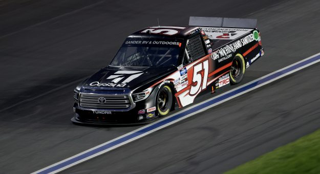 CONCORD, NORTH CAROLINA - MAY 26: Kyle Busch, driver of the #51 Cessna Toyota, drives during the NASCAR Gander Outdoors Trucks Series North Carolina Education Lottery 200 at Charlotte Motor Speedway on May 26, 2020 in Concord, North Carolina. (Photo by Chris Graythen/Getty Images)   Getty Images