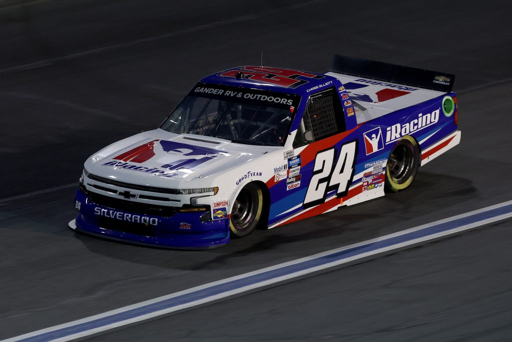 CONCORD, NORTH CAROLINA - MAY 26: Chase Elliott, driver of the #24 iRacing Chevrolet, drives during the NASCAR Gander Outdoors Trucks Series North Carolina Education Lottery 200 at Charlotte Motor Speedway on May 26, 2020 in Concord, North Carolina. (Photo by Chris Graythen/Getty Images) | Getty Images