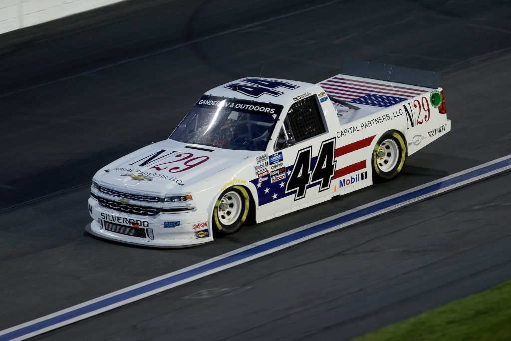 CONCORD, NORTH CAROLINA - MAY 26: Natalie Decker, driver of the #44 N29 Capital Partners Chevrolet, drives during the NASCAR Gander Outdoors Trucks Series North Carolina Education Lottery 200 at Charlotte Motor Speedway on May 26, 2020 in Concord, North Carolina. (Photo by Chris Graythen/Getty Images) | Getty Images