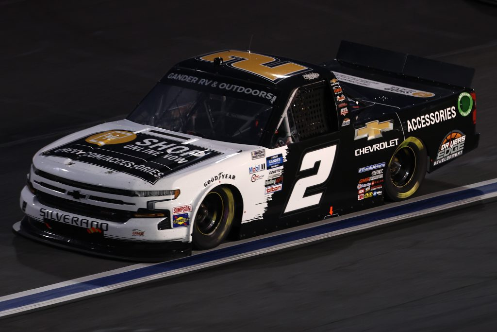 CONCORD, NORTH CAROLINA - MAY 26: Sheldon Creed, driver of the #2 Chevy Accessories Chevrolet, drives during the NASCAR Gander Outdoors Trucks Series North Carolina Education Lottery 200 at Charlotte Motor Speedway on May 26, 2020 in Concord, North Carolina. (Photo by Chris Graythen/Getty Images) | Getty Images