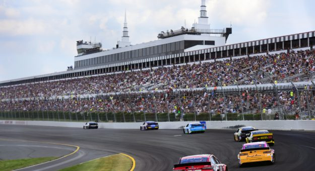 LONG POND, PENNSYLVANIA - JULY 28: A general view of racing during the Monster Energy NASCAR Cup Series Gander RV 400 at Pocono Raceway on July 28, 2019 in Long Pond, Pennsylvania. (Photo by Jared C. Tilton/Getty Images) | Getty Images