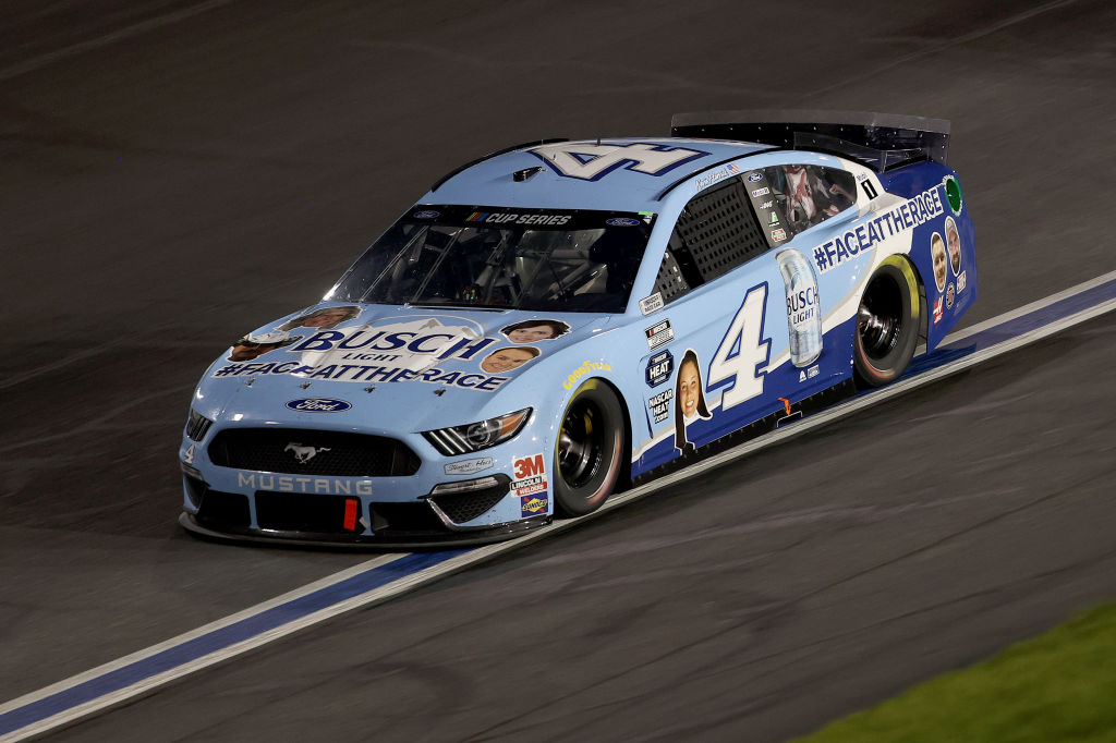 CONCORD, NORTH CAROLINA - MAY 28: Kevin Harvick, driver of the #4 Busch Light Ford, drives during the NASCAR Cup Series Alsco Uniforms 500 at Charlotte Motor Speedway on May 28, 2020 in Concord, North Carolina. (Photo by Chris Graythen/Getty Images) | Getty Images