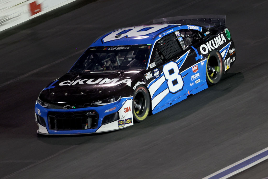 CONCORD, NORTH CAROLINA - MAY 28: Tyler Reddick, driver of the #8 Okuma Chevrolet, drives during the NASCAR Cup Series Alsco Uniforms 500 at Charlotte Motor Speedway on May 28, 2020 in Concord, North Carolina. (Photo by Chris Graythen/Getty Images) | Getty Images