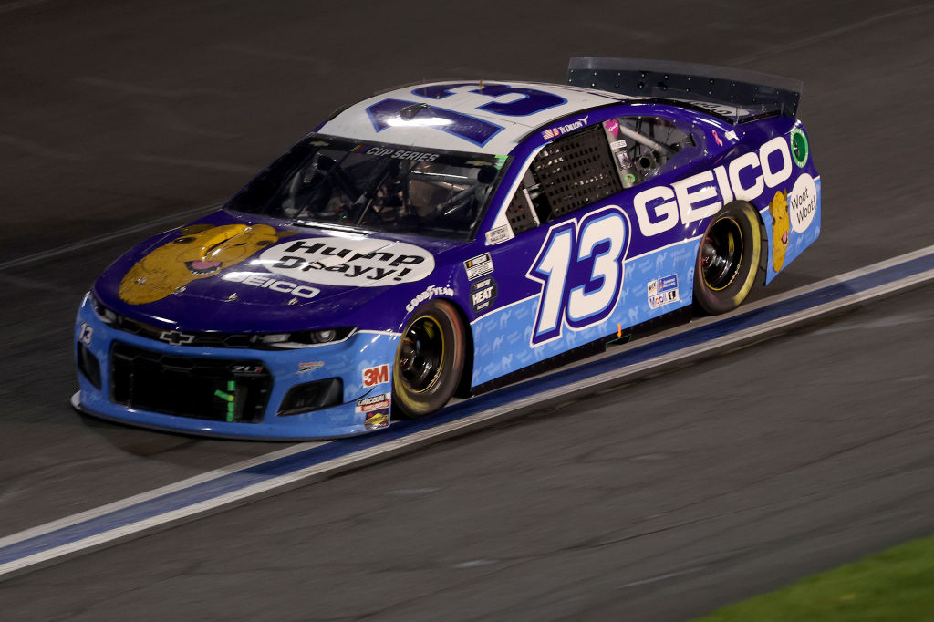 CONCORD, NORTH CAROLINA - MAY 28: Ty Dillon, driver of the #13 GEICO Chevrolet, drives during the NASCAR Cup Series Alsco Uniforms 500 at Charlotte Motor Speedway on May 28, 2020 in Concord, North Carolina. (Photo by Chris Graythen/Getty Images) | Getty Images