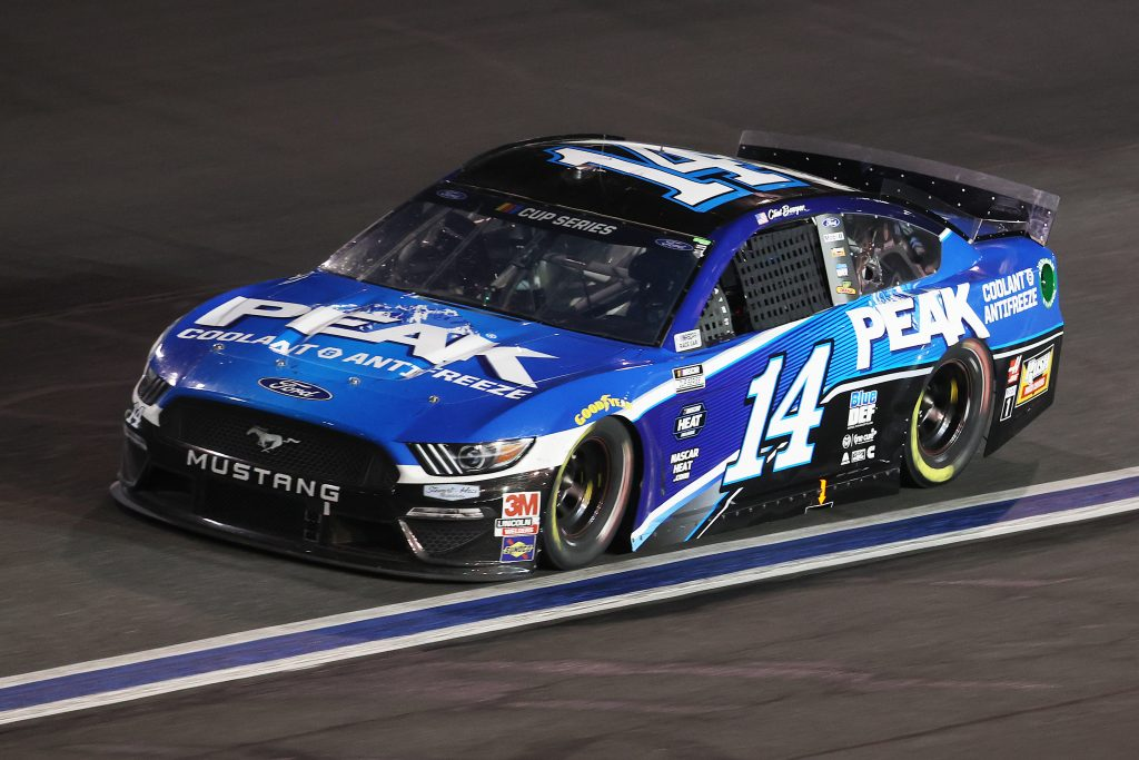 CONCORD, NORTH CAROLINA - MAY 28: Clint Bowyer, driver of the #14 PEAK Ford, drives during the NASCAR Cup Series Alsco Uniforms 500 at Charlotte Motor Speedway on May 28, 2020 in Concord, North Carolina. (Photo by Chris Graythen/Getty Images) | Getty Images