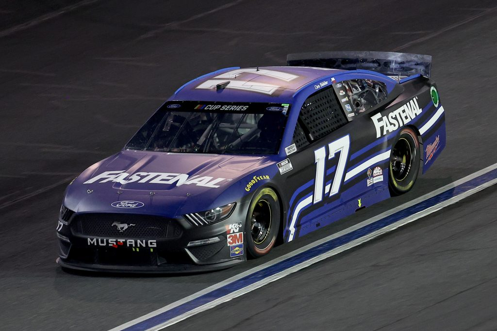 CONCORD, NORTH CAROLINA - MAY 28: Chris Buescher, driver of the #17 Fastenal Ford, drives during the NASCAR Cup Series Alsco Uniforms 500 at Charlotte Motor Speedway on May 28, 2020 in Concord, North Carolina. (Photo by Chris Graythen/Getty Images) | Getty Images
