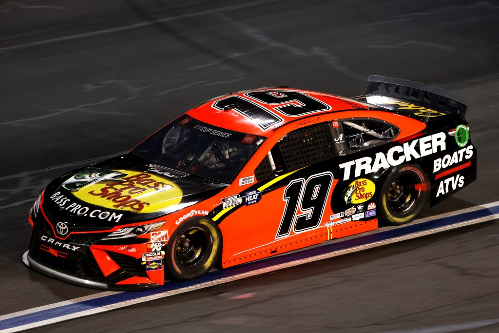 CONCORD, NORTH CAROLINA - MAY 28: Martin Truex Jr., driver of the #19 Bass Pro Shops Toyota, drives during the NASCAR Cup Series Alsco Uniforms 500 at Charlotte Motor Speedway on May 28, 2020 in Concord, North Carolina. (Photo by Chris Graythen/Getty Images)   Getty Images