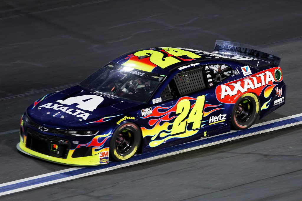 CONCORD, NORTH CAROLINA - MAY 28: William Byron, driver of the #24 Axalta Chevrolet, drives during the NASCAR Cup Series Alsco Uniforms 500 at Charlotte Motor Speedway on May 28, 2020 in Concord, North Carolina. (Photo by Chris Graythen/Getty Images) | Getty Images