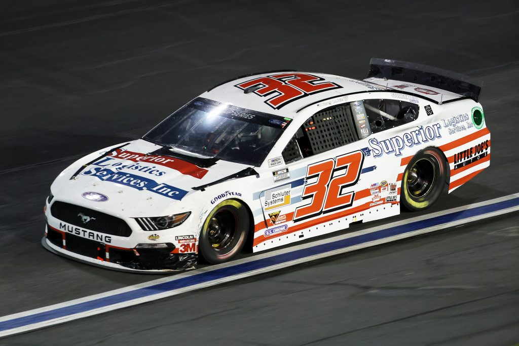 CONCORD, NORTH CAROLINA - MAY 28: Corey LaJoie, driver of the #32 Superior Logistics Ford, drives during the NASCAR Cup Series Alsco Uniforms 500 at Charlotte Motor Speedway on May 28, 2020 in Concord, North Carolina. (Photo by Chris Graythen/Getty Images) | Getty Images