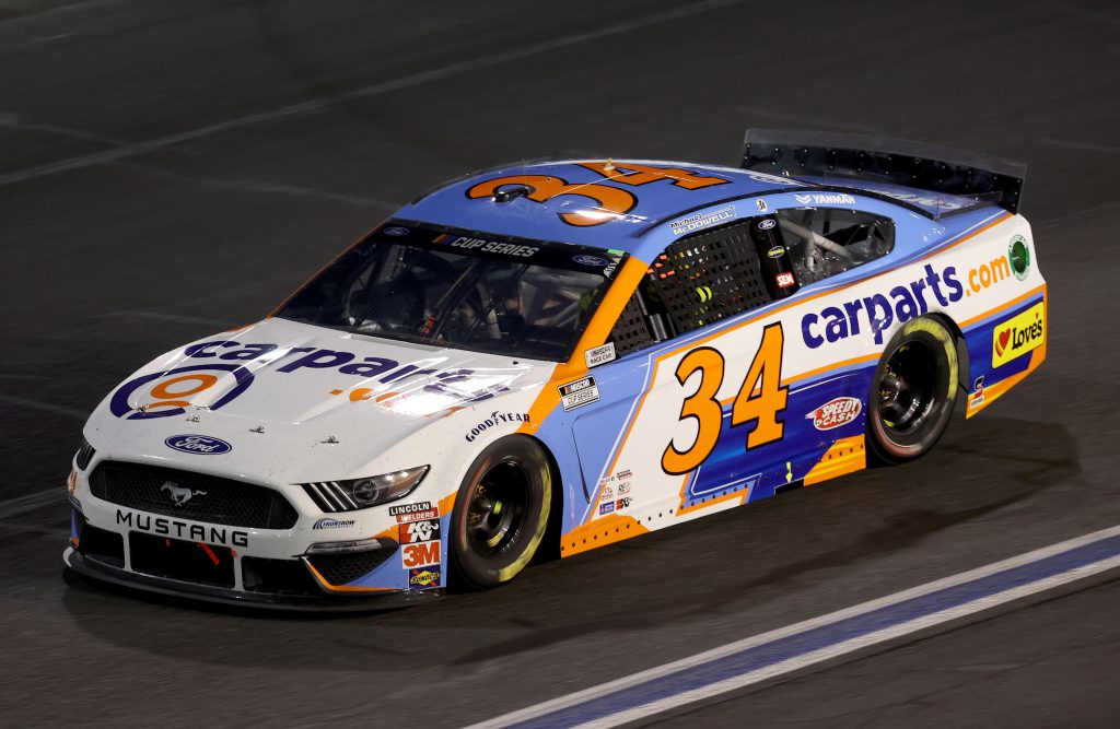 CONCORD, NORTH CAROLINA - MAY 28: Michael McDowell, driver of the #34 CarParts.com Ford, drives during the NASCAR Cup Series Alsco Uniforms 500 at Charlotte Motor Speedway on May 28, 2020 in Concord, North Carolina. (Photo by Chris Graythen/Getty Images) | Getty Images